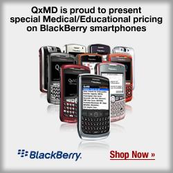 QxMD Negotiates Educational Pricing on New BlackBerry Smartphones