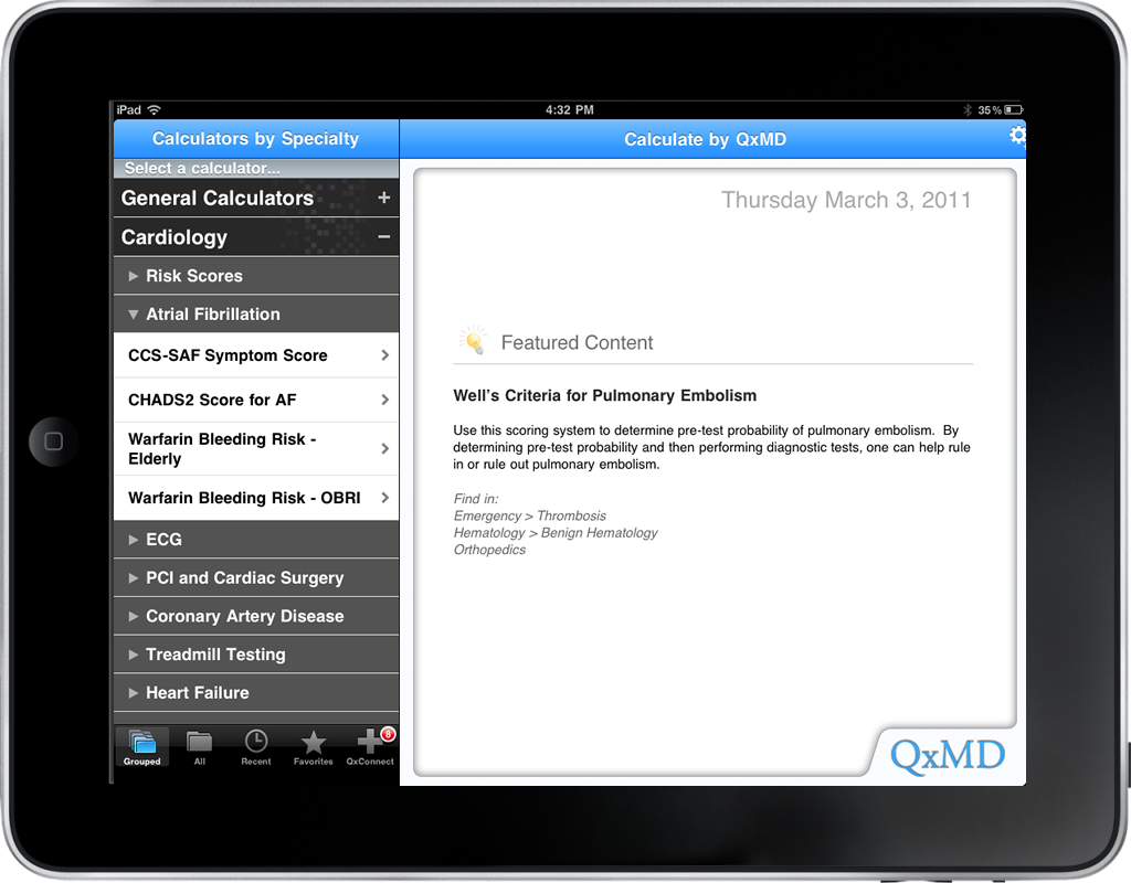 Calculate by QxMD for iPad