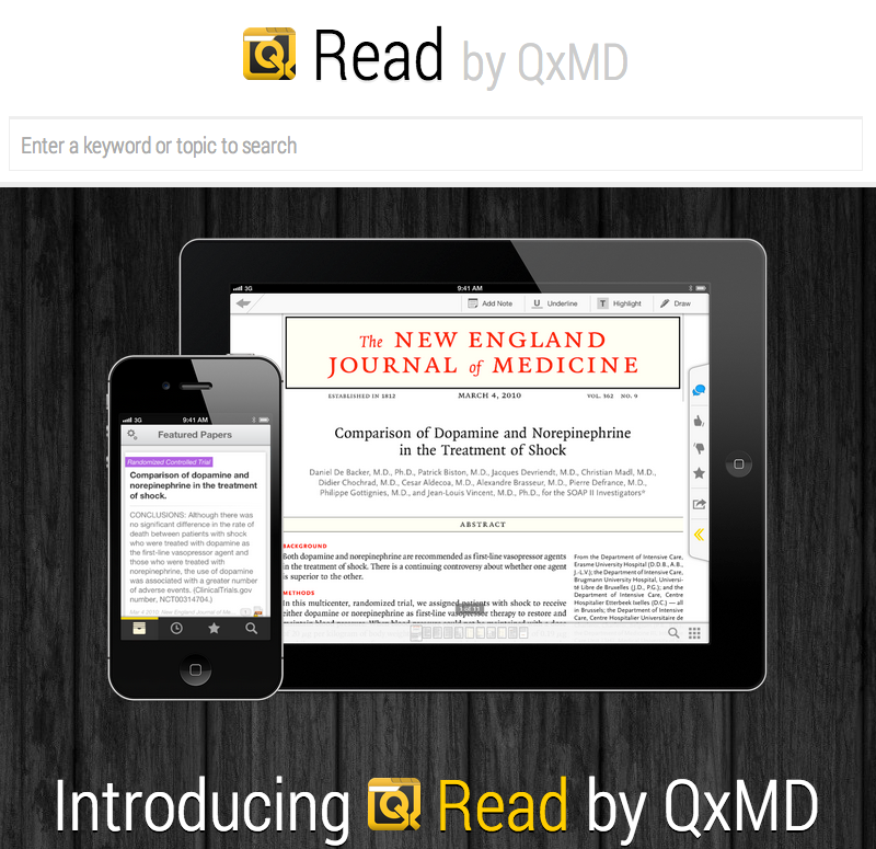 Search science & medicine using Read by QxMD