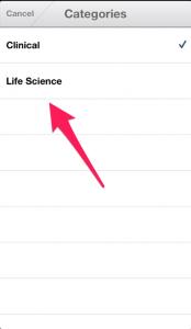 Choose 'Life Sciences'