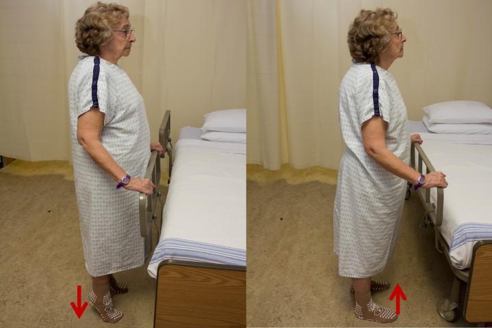 Alternating heel to raise