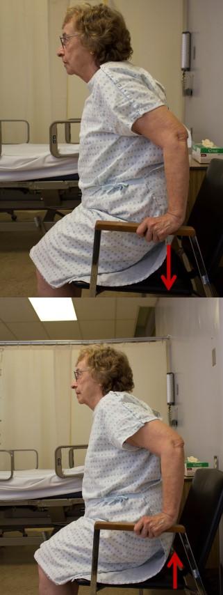 Arm chair push
