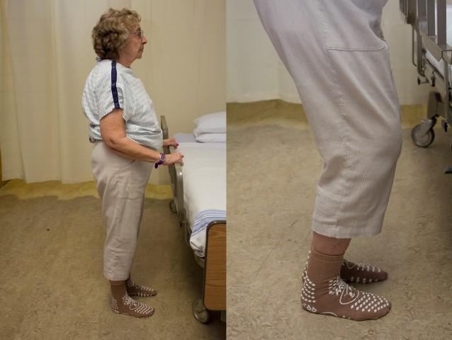 Partial knee bend